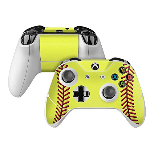 Softball Skin Decal Compatible with Microsoft Xbox One and One S Controller - Full Cover Wrap for Extra Grip and Protection from DecalGirl
