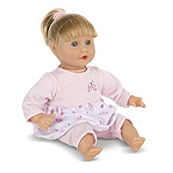 """The perfect size to cuddle, blonde Natalie has a sweet-smelling, soft body with wipe-clean arms and legs. She loves to be held, but can sit up """"like a big girl"""" and suck her thumb or her pacifier. She comes in a charming embroidered two-piece outfit ..."""