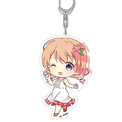 Is the Order a Rabbit? GochiUsa Cocoa Hoto Big Character Acrylic Deca Key Chain Mascot Anime Girls Collection