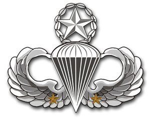 US Army Master 2 Combat Jump Wings Decal Sticker 3.8