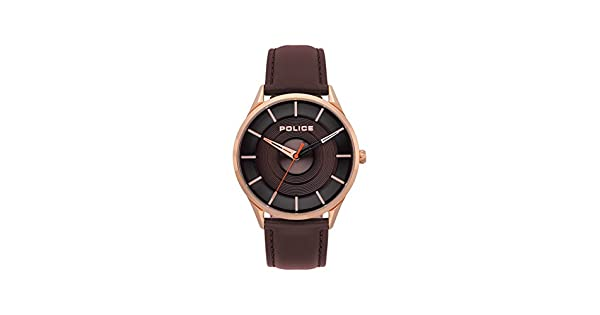 e435f858b Police Watch for Men - Leather, Analog - P 15399JSR-12: Amazon.ae