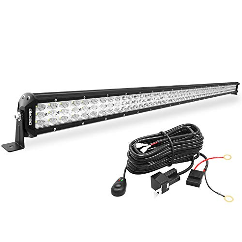 oEdRo LED Light Bar 52 Inches 818W Triple Row Work Light Spot Flood Combo Off Road Light LED Driving Fog Lights Boat Lighting for UTV ATV Jeep Truck SUV w/Wiring Harness, 2 Years Warranty