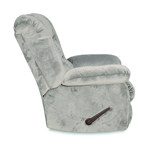 RevoluXion Sophie Three Position Rocker Recliner Covered in a Soft Chenille Grey Fabric - Perfect for the Living Room, Family Room, Nursery, Game Room, Any Room! Easy to Clean Too!