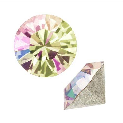 Swarovski Crystal, 1088 Xirius Round Stone Chatons ss39, 6 Pieces, Luminous Green F