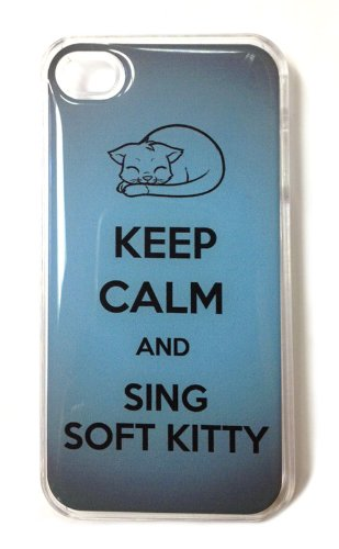 Keep Calm and Sing Soft Kitty iPhone 4 Case