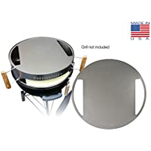 "Made in USA KettlePizza Stainless Baking Steel - Steel Skillet/Lid for 22.5"" Kettle Grills"