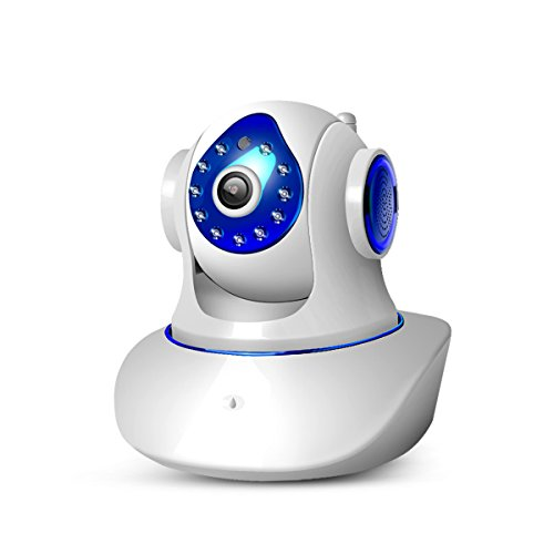 Wireless IP Camera Nanny Cam Pet Cam with Pan Tilt Zoom Motion Detection Remote Viewing HD Night Vision up to 32 Feet Cloud Service Available for Baby Pet Monitor WiFi Surveillance Security - Internet Pc Cameras