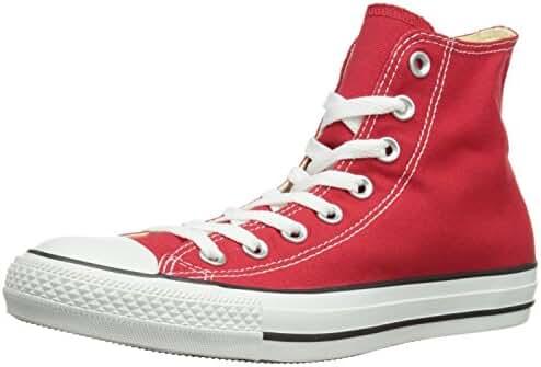 Converse Men's Chuck Taylor All Star Hi Top (5.5 D(M) US, Red)