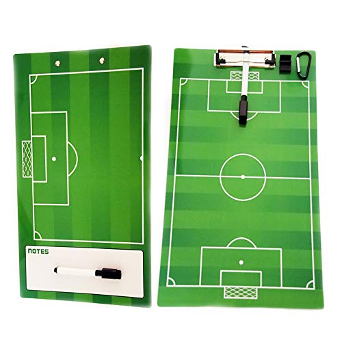 TD.IVES Coaches Marker Board,Coaches Board,Double Sided Premium Dry Erase Clip Board for Soccer ()