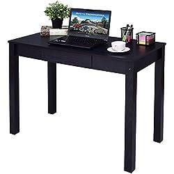 Black Computer Desk Work Station Writing Table