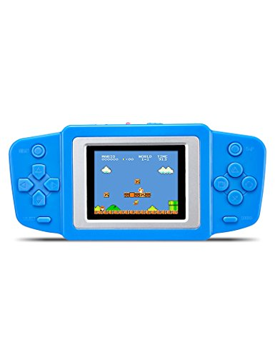 "CZT 2.5"" Retro Game Handheld Player Built In 268 Games Video Game Console Portable kids Game Console Best gift for kids Support Li-polymer Battery or Dry Battery (Blue) from CZT"