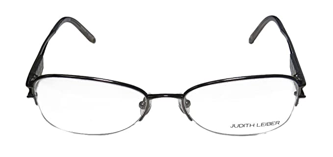 321f1b4757 Amazon.com  Judith Leiber 1581 For Ladies Women Cat Eye Half-rim Titanium  Rhinestones With Eyeglasses Spectacles (53-17-130