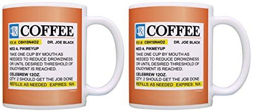 Nurse Prescription Coffee Bottle Orange