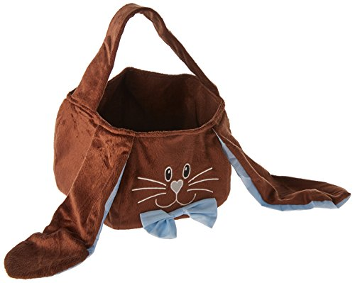 Burton and Burton Bunny Face Baskets Bags Perfect for Easter in White and Brown Bunny (White)
