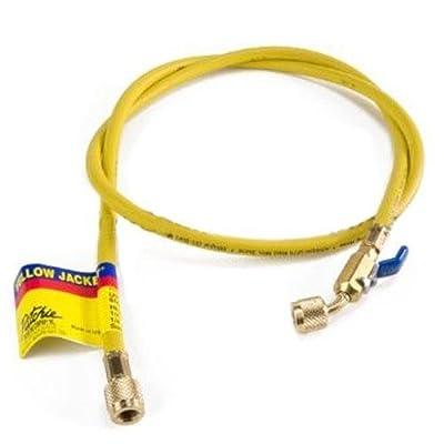 "Yellow Jacket 29150 Plus II 1/4"" Hose with Compact Ball Valve, 50', Yellow"
