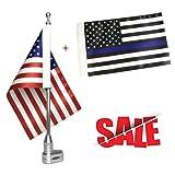 Cheap Free2choose Mount Flag Pole + 6″x9″ USA Flag + 6″x9″ Thin Blue Line USA Flag for Honda Goldwing GL1800 2001-2012
