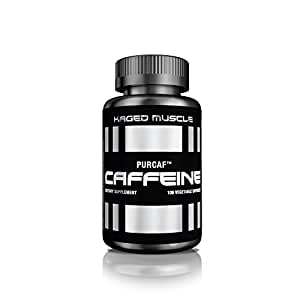 KAGED MUSCLE – PurCaf Organic Caffeine Capsules – 100 Servings – Smooth & Clean Energy Boost – No Jitters & No Crash – 90% Pure Caffeine