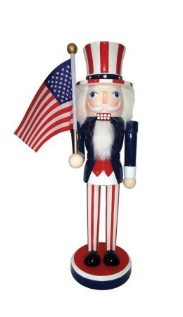 Santas Workshop 70772 14 in. Uncle Sam Nutcracker ()