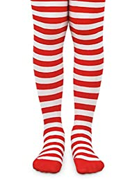 Jefferies Girls Bold Striped Footed Tights Size 2 to 10 years- 4 Color Combinations!!