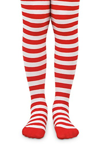 LC Boutique Girls Bold Striped Footed Tights Size