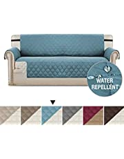 Sofa Cover for Living Room Water Repellent Quilted Plush Slipcover/Furniture Cover with Elastic Straps Keep in Space