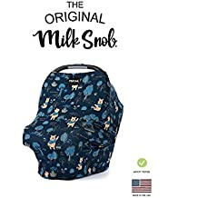 """DISNEY COLLECTION The Original Milk Snob Infant Car Seat Cover and Nursing Cover Multi-Use 360° Coverage Breathable Stretchy """"Winnie the Pooh"""""""