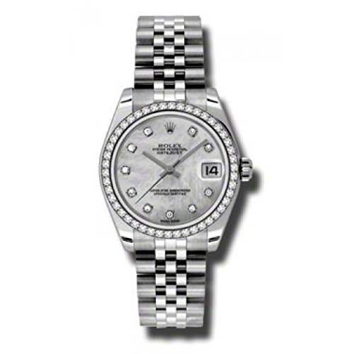 Rolex Datejust Lady 31 Mother of Pearl Dial Stainless Steel Rolex Jubilee Automatic Watch 178384MDJ (Rolex Datejust Lady 31 Rose Gold Price)