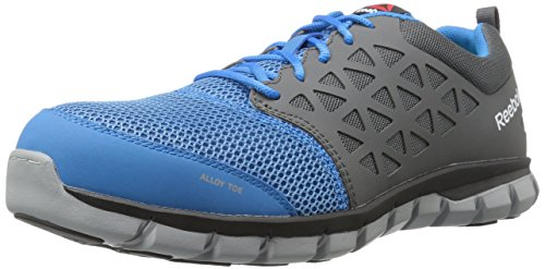 Reebok Work Men's Sublite Cushion Work RB4040 Industrial and Construction Shoe, Blue/Grey, 12 W US by Reebok Work