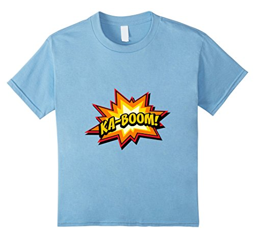 Comic Ka-Boom T-shirt - Kids 10 - Baby Blue
