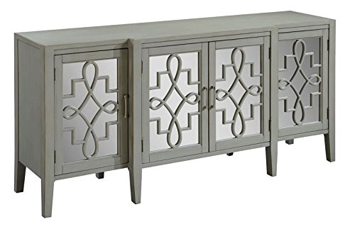 Treasure Trove Accents 16830 Four Door Media Credenza, 72