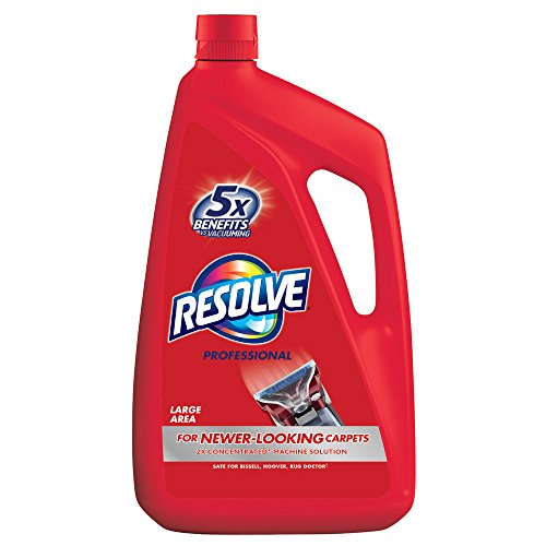 Resolve Professional Steam Carpet Cleaner Solution Shampoo, 96oz, 2X Concentrate, Safe for Bissell, Hoover & Rug - Steam Gallon Cleaner