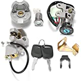 Redcolourful Motorcycle Ignition Switch Key Lock Gas Tank Cap Set for GY6 50CC