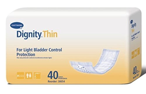 Dignity Thinserts Pads (Units Per Pack 40 Dignity ThinSerts Liners Capacity 8 oz Pad 3 1/2 x 12 HUMANICARE INT'L INC. 30054 by HUMANICARE INT'L INC.)