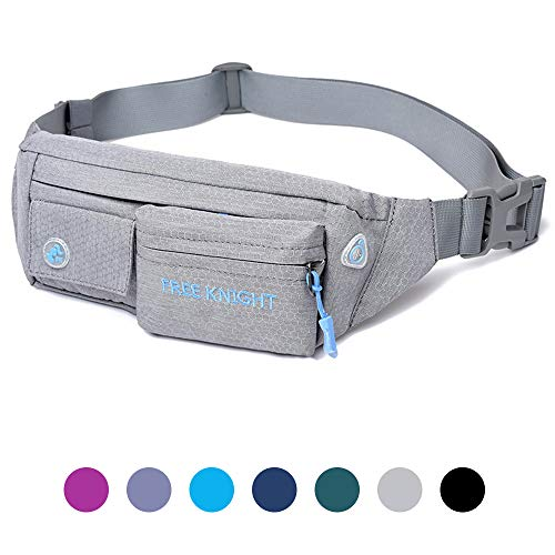 Moyeno Fanny Packs for Women Men, Workout Fanny Pack for Phone, Waist Bags Lightweight, Soft Fabric Adjustable for Outdoors Traveling Walking Running Hiking Cycling in USA