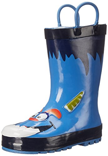 Western Chief Boys Printed Rain Boot, Monster, 1 M US Little Kid