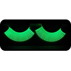 EMILYSTORES Luminous Costume Halloween Gloss In Darkness Party Lashes 1 Pair