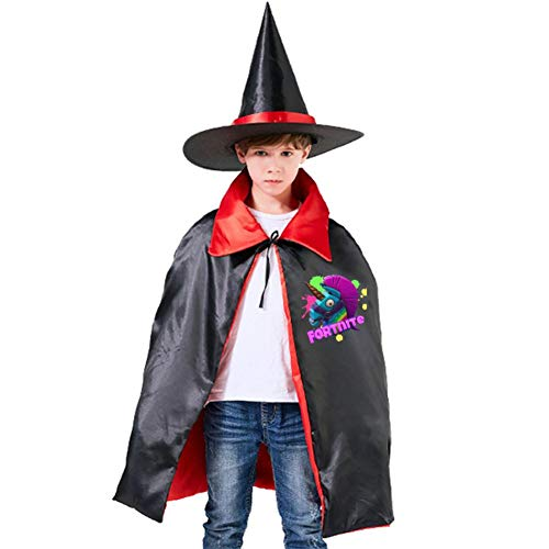 Fort Rainbow Llama Unicorn Kids Halloween Costumes Witch Wizard Cloak with Hat Wizard Cape Party -
