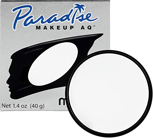 Mehron Makeup Paradise Makeup AQ Face & Body Paint (1.4 oz) (White) -