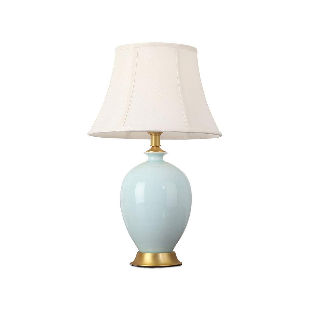Ceramic Table Lamp American Bedroom Bedside Lamp Living Room Study Hotel Club Model Decoration Table Lamp
