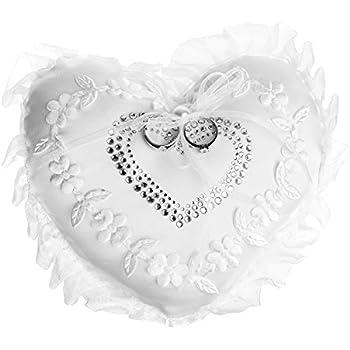 Amazon.com: Thomas Ferguson – Cojín para anillo de boda con ...