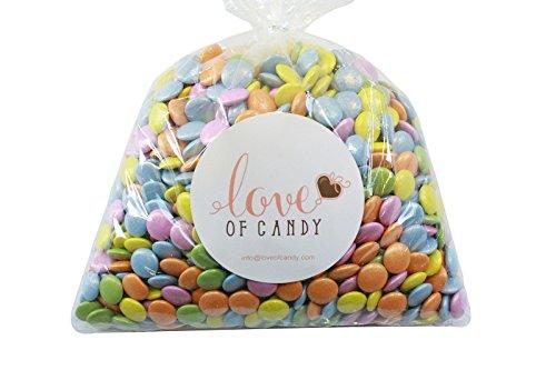 Love of Candy Bulk Candy - Rainbow Jewel Chocolate Lentils - 1lb Bag