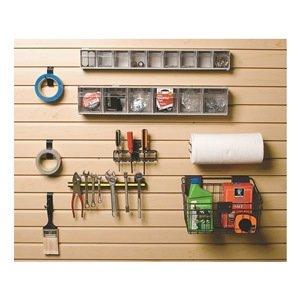 Suncast - HSWBK - Steel Workbench Slat Wall Accessory Kit, Gray/Black and Black