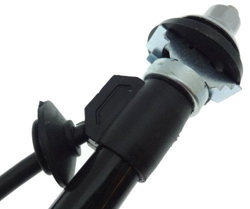 Teleskop Versenk Antenne verchromt Kotfl/ügel Einbau mit Kabel Oldtimer Jungtimer