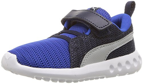 PUMA Baby Carson 2 Velcro Kids Sneaker, Turkish sea-Gray Violet, 4 M US Toddler