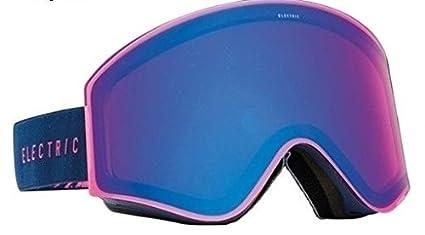 d4c5dbde2474 Image Unavailable. Image not available for. Color  Black Pinecones Navy W   Rose Blue Lens Electric Egx Mens Frameless Ski Snowboard