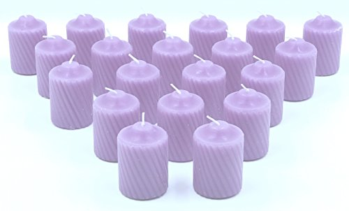 - 15 Hour Scented Votive Candles 20 Candles Per Box with Texured Finish (Lavender Lavender Scent)