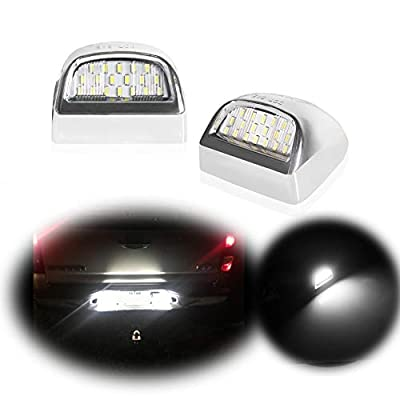 GTinthebox Led License Plate Light Lamp Assembly Replacement for Cadillac Escalade Chevy Silverado 1500 2500 3500 Suburban Tahoe GMC Sierra 1500 2500 3500 Yukon XL,6000K Diamond White,2PCS: Automotive