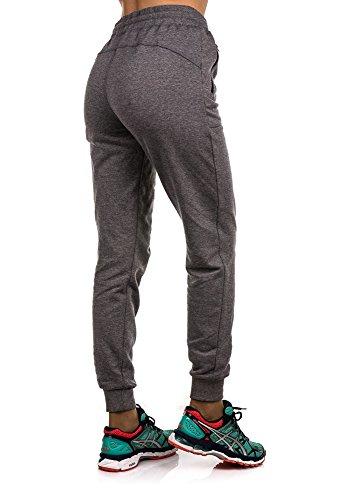 4F-women pantaloni con coulisse tuta pantaloni tuta Active pantaloni SPDD002melange, LARGE-12UK