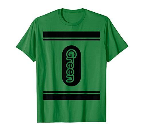 Green Crayon Shirt halloween costume tee couple friend group T-Shirt