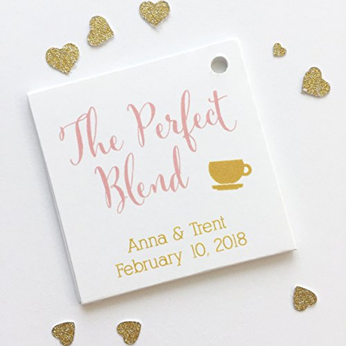 The Perfect Blend Tea or Coffee Wedding Favor Hang Tags (SQ-097)
